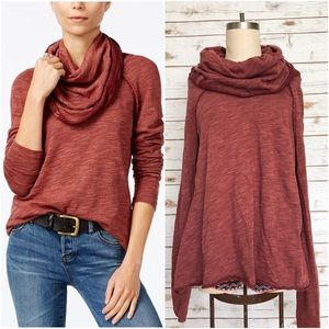 FREE PEOPLE Beach Cocoon Cowl Neck Pullover Top